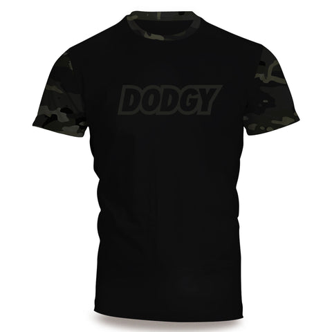 Dodgy Black Multicam Short Sleeve Rashguard
