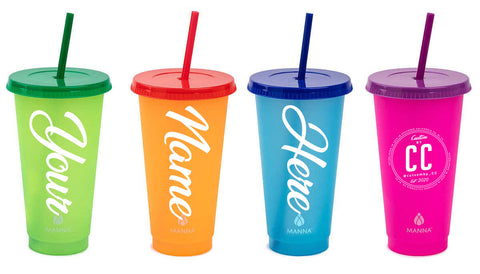 Custom Color Changing plastic tumblers - 16oz