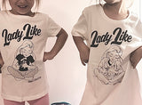 Copy of Girls - Lady Like On Gi VNeck Shirt