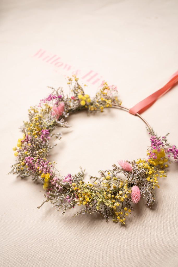 Dried Flower Spring Wreath
