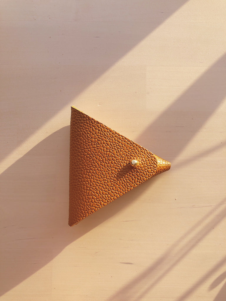Tan Textured Triangle