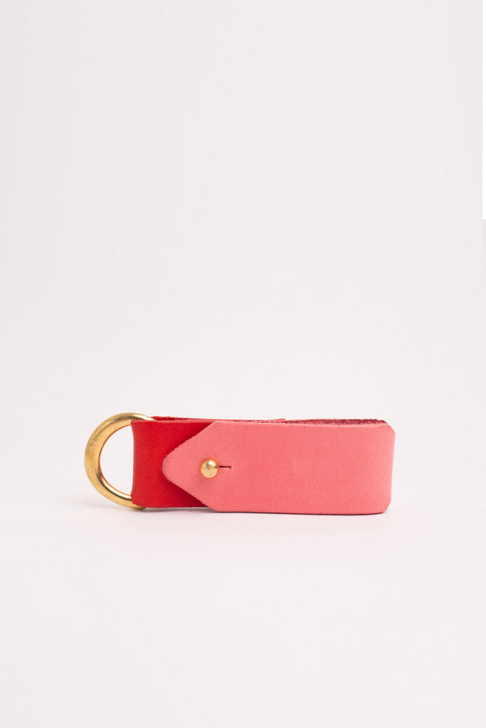 Colour block keyring with Brass Hardware