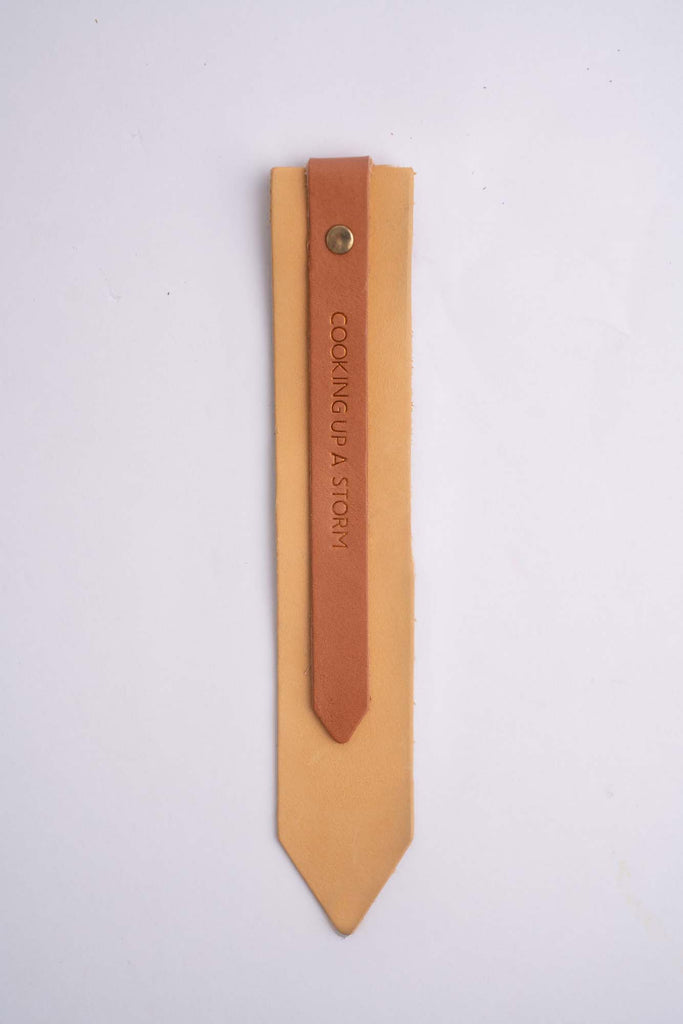 Yellow and Tan Colour-Block Bookmark