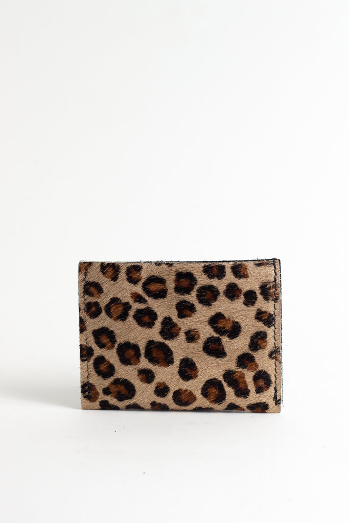 Leopard Sand Tone Card Holder