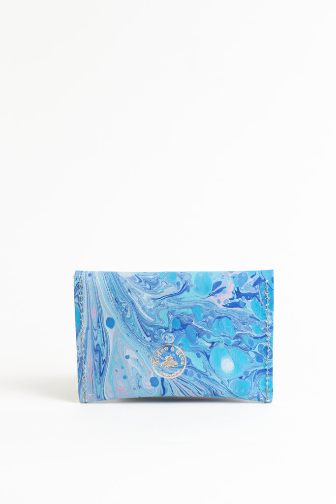 Hand Marbled Blue Mini - (One of a Kind)