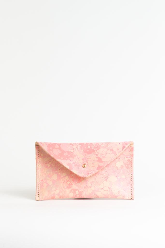 Pink Hand Marbled Purse - (One of a Kind)