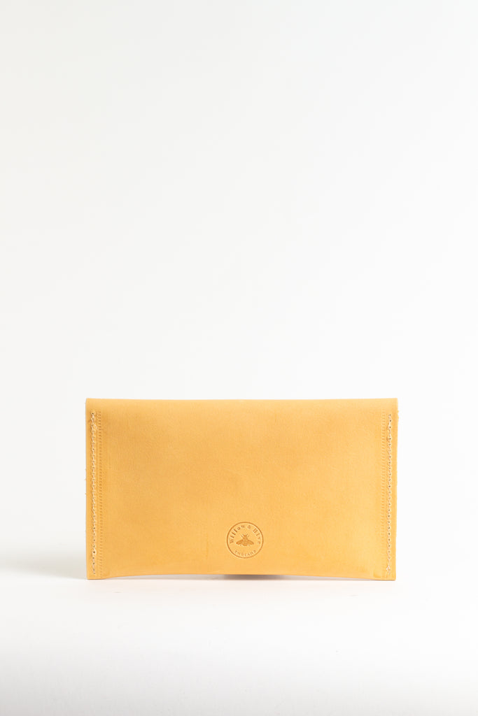 Yellow Mustard Leather Purse