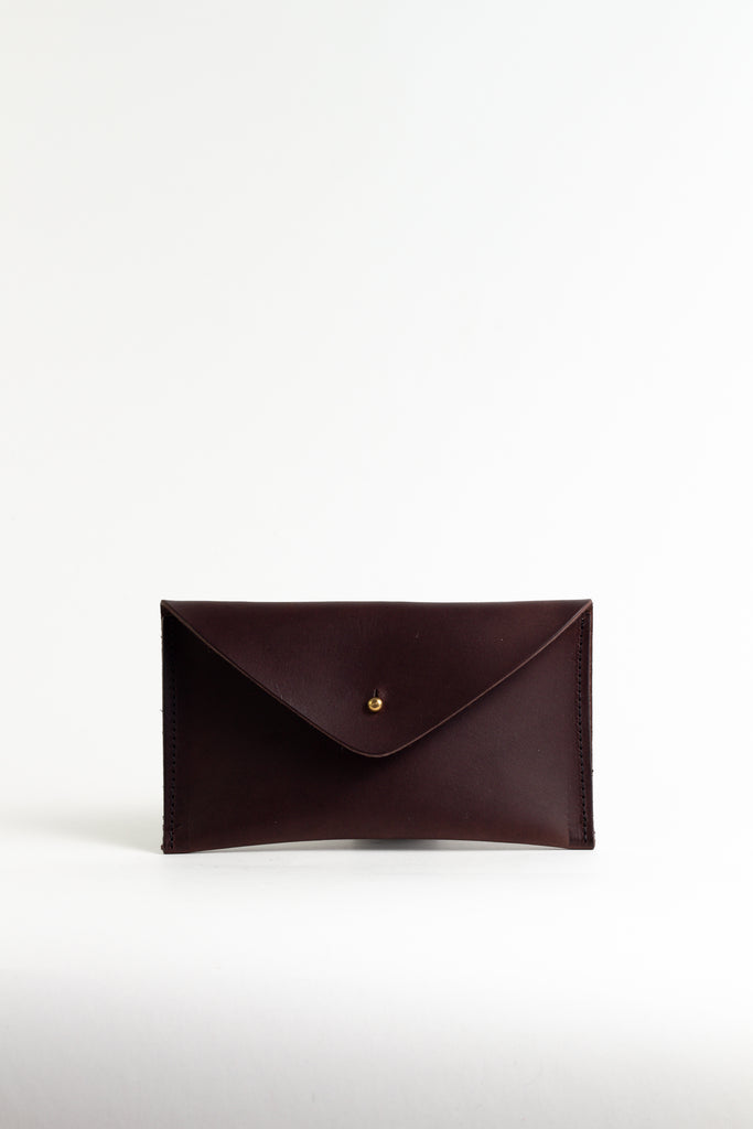 Mahogany Brown Leather Purse