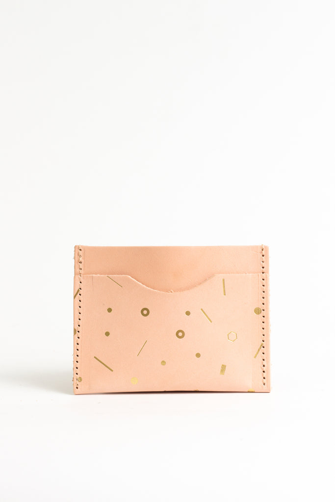 Geometric Gold Foil Card Holder