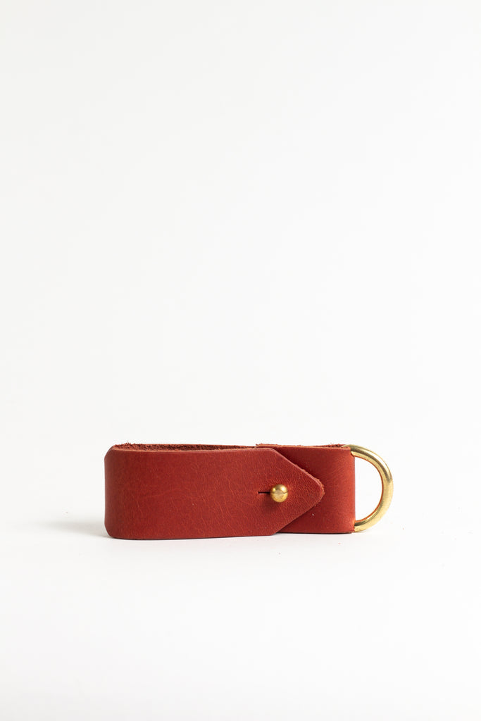 Rich Chestnut Keyring with Brass Hardware