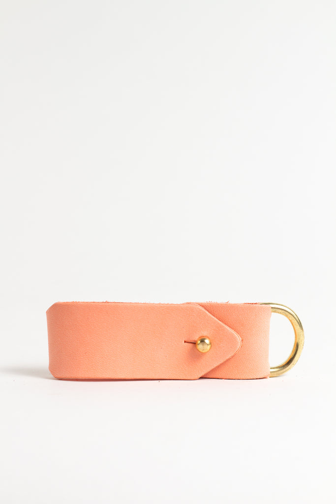 Coral Keyring with Brass Hardware