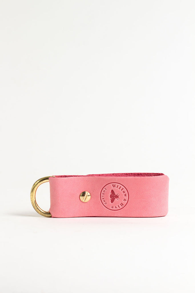 Pink Keyring with Brass Hardware