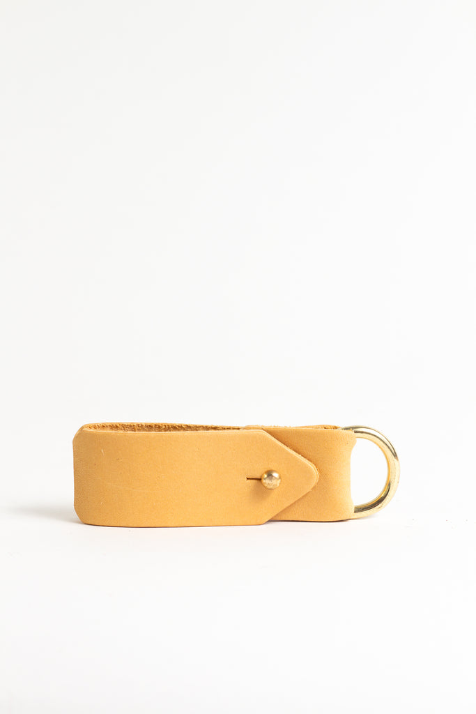 Yellow Keyring with Solid Brass D-ring