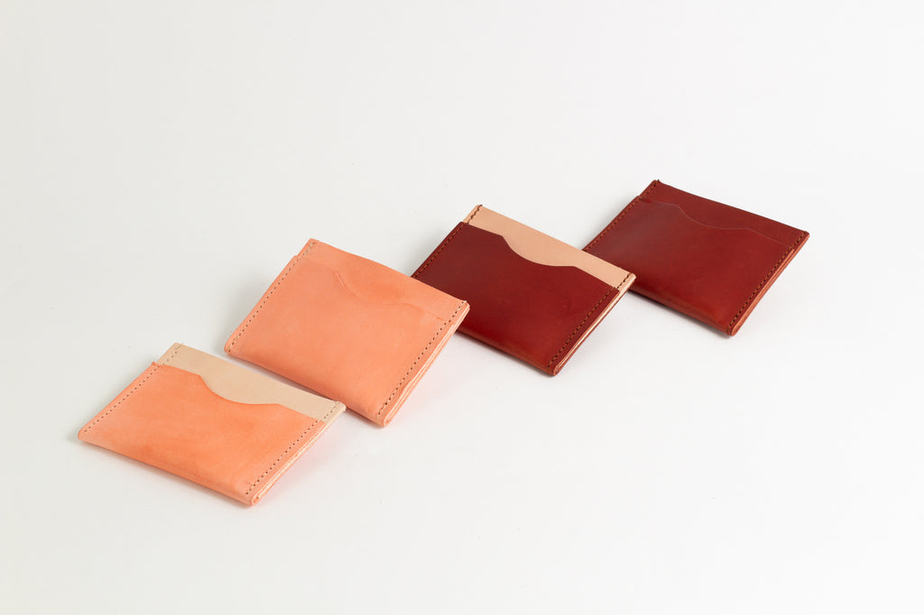 Coral Colour Block Card Holder