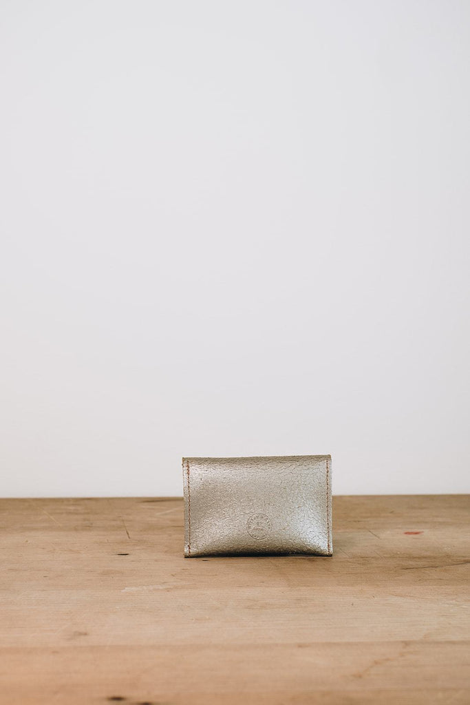 Metallic Silver Mini Purse