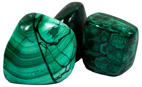 Crystals and Rocks - Malachite, tumbled