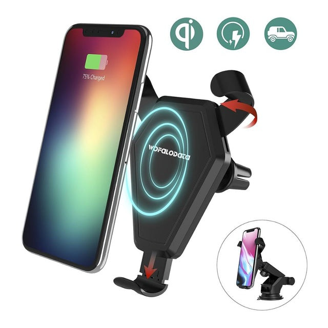 car qi fast wireless charger wireless cell phone