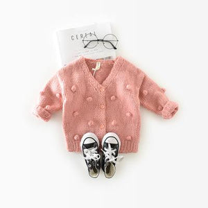 1-3 Years Old Baby Girl Sweater Cardigan