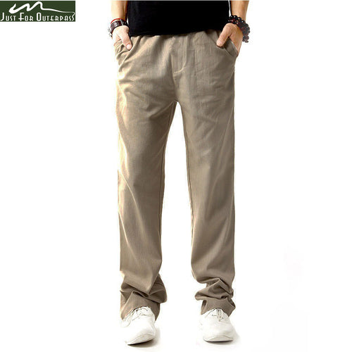 Linen Breathable Casual Pants  4XL Loose Pants