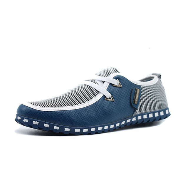 Breathable Light Flats Shoes Leather Loafers Slip On