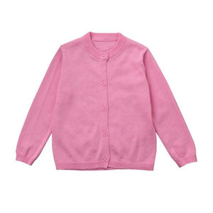 Boys Girls Knitted Colorful Solid Sweater Cardigan