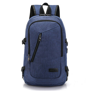 Anti Theft Business Laptop Backpack With USB Charging Port Unisex