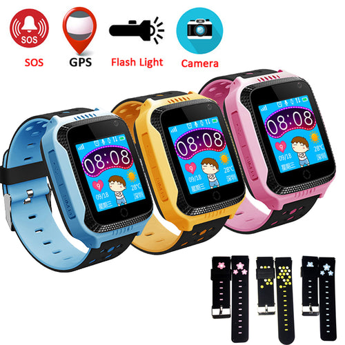 GPS Smart Watch With Camera Flashlight Baby Watch SOS Call Location Device Tracker for Kids