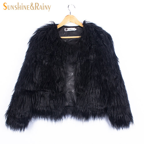 Ins Stylish Fur Jackets For Girls  2-10Y