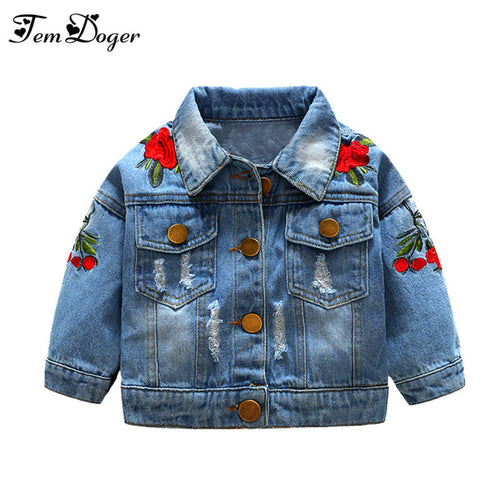 Denim Jackets Flower Embroidery