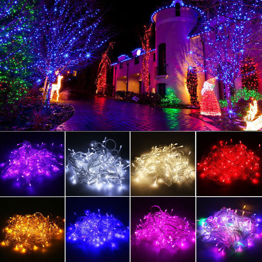 10M 100 LED Fairy String Lights Lamp for Xmas Tree Holiday