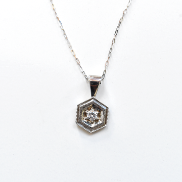 Diamond Pendant Necklace in White Gold - Goldmakers Fine Jewelry