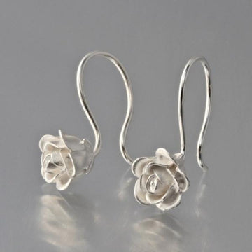 Rose Wire Drop Earrings - Goldmakers Fine Jewelry