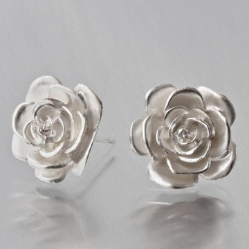 Rose Stud Earrings - Goldmakers Fine Jewelry