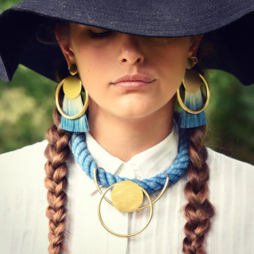 Selene Collar in Indigo - Goldmakers Fine Jewelry