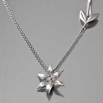 Lily Pendant Necklace - Goldmakers Fine Jewelry