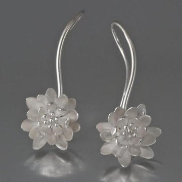 Waterlily Wire Drop Earrings - Goldmakers Fine Jewelry