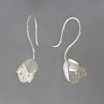Tulip Wire Drop Earrings - Goldmakers Fine Jewelry