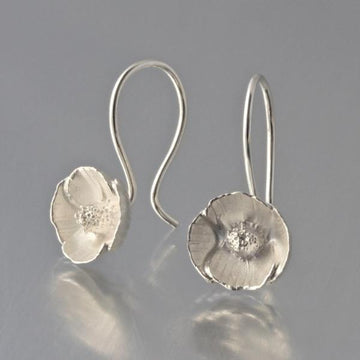 Poppy Wire Drop Earrings - Goldmakers Fine Jewelry
