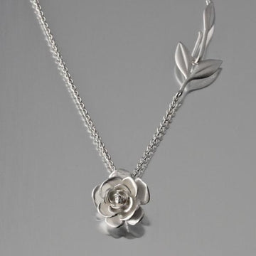 Rose Pendant Necklace - Goldmakers Fine Jewelry