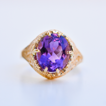 Iris Garden Ring in Gold with Amethyst - Goldmakers Fine Jewelry