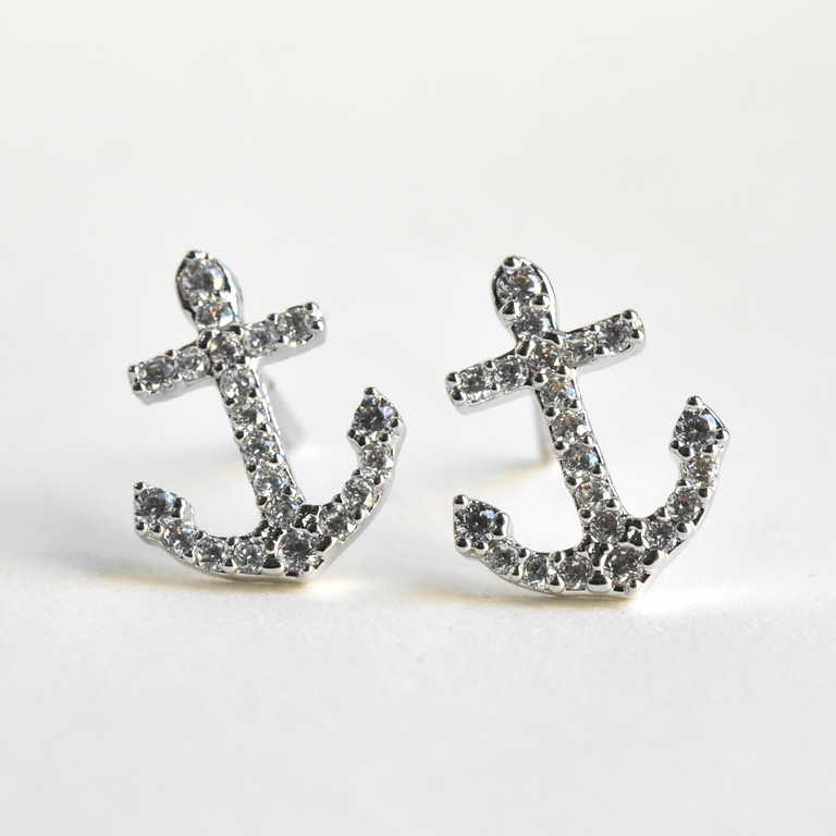 Anchor Studs - Goldmakers Fine Jewelry