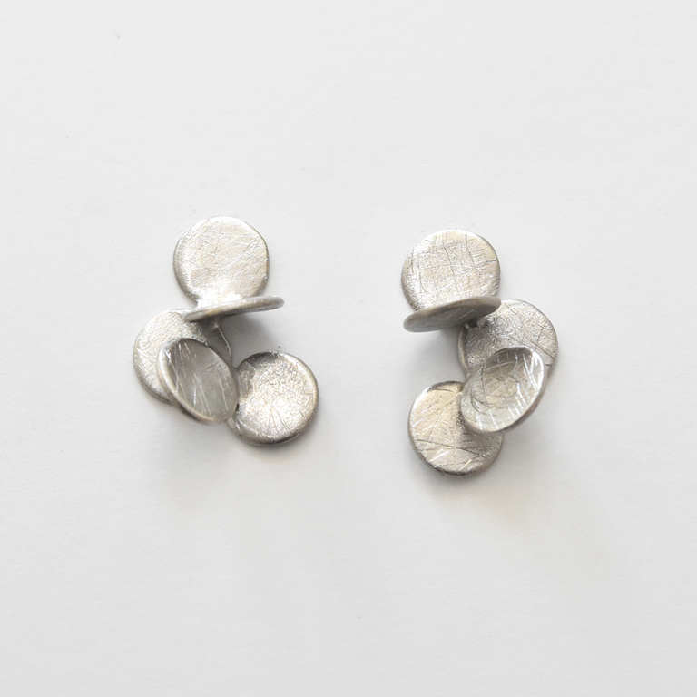 Arai Earrings in Sterling Silver - Goldmakers Fine Jewelry