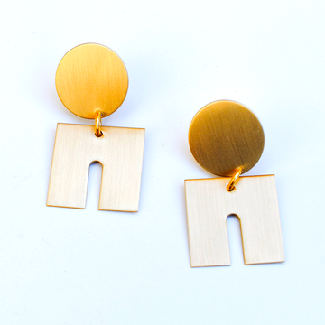 Small Arch Earrings - Goldmakers Fine Jewelry