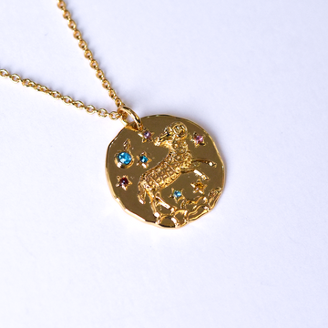 Aries Coin Necklace - Goldmakers Fine Jewelry