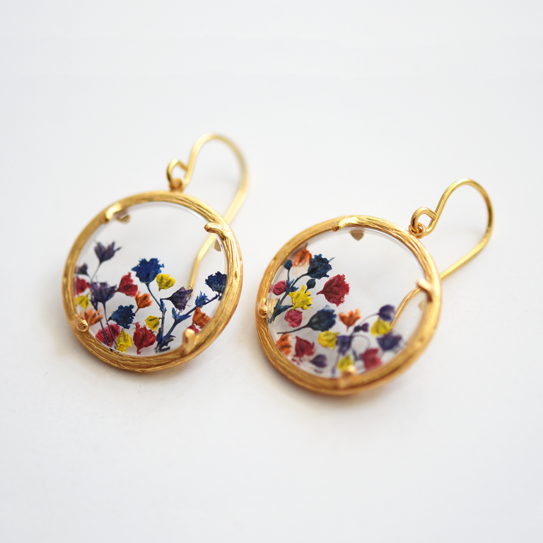 Baby's Breath Glass Vermeil French Wire Earrings - Goldmakers Fine Jewelry