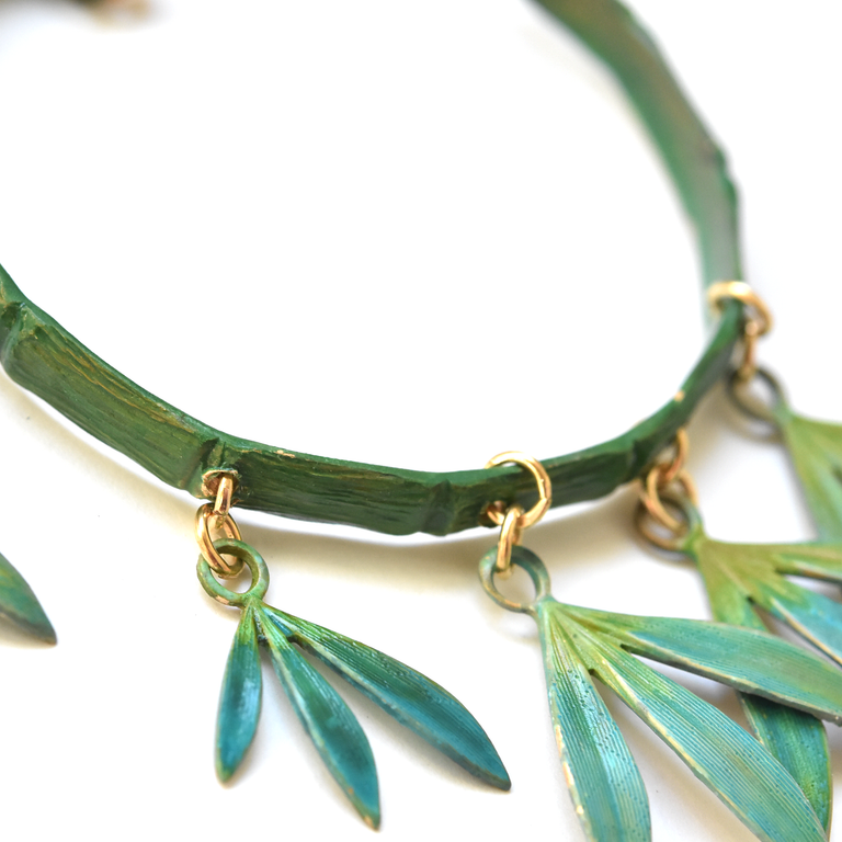 Bamboo Hoop Earrings - Goldmakers Fine Jewelry