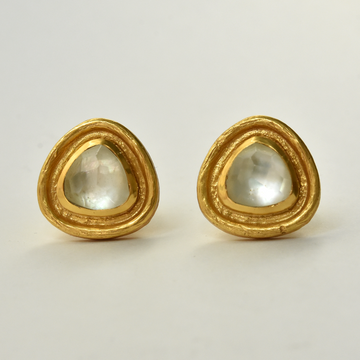 Barcelona Studs in Iridescent Clear Crystal - Goldmakers Fine Jewelry