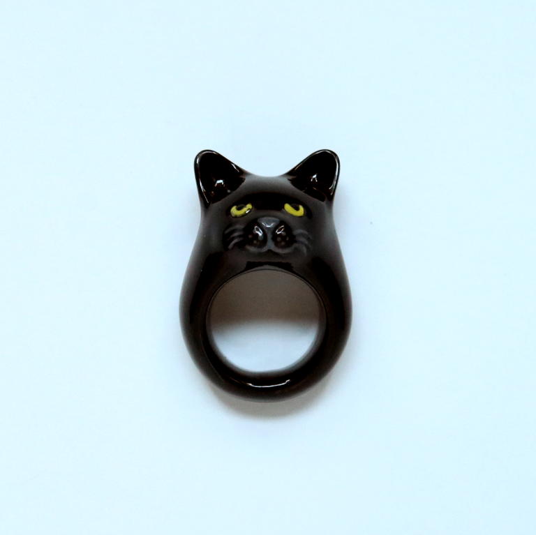 Black Cat Ring - Goldmakers Fine Jewelry