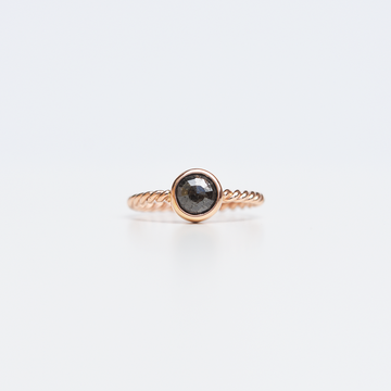 Black Diamond Rose Gold Solitaire - Goldmakers Fine Jewelry