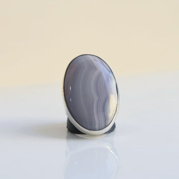 Blue Lace Agate Ring - Goldmakers Fine Jewelry